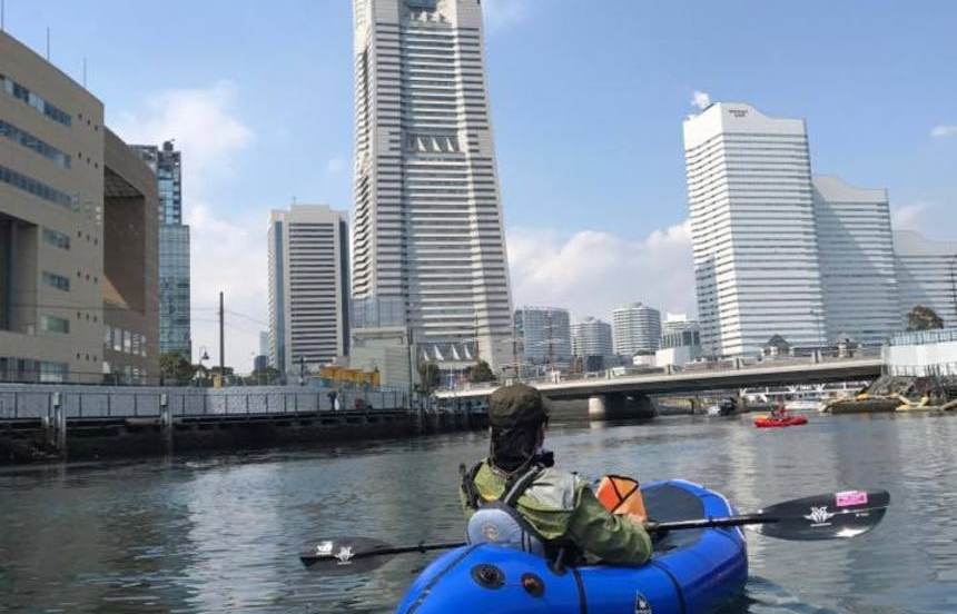 パックラフト遠征ツアーIN横浜(お花見バージョン) Part2
